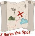 X Marks Spot vector image