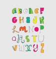 bright letters sequence from a to z bright vector image