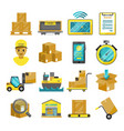 container boxes trucks ships and other cargo vector image