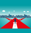 businessman standing on the road vector image