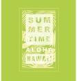Hawaii aloha typography for t-shirt vector image