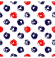 Navy blue red and white grunge circle brush vector image