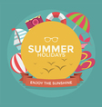 Summer holidays typography with Flat icon summer vector image