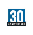 30th anniversary icon birthday logo vector image