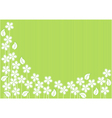 Abstract Green Background with Flowers vector image vector image