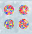 abstract watercolor mandala circle flower set vector image