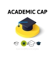 Academic cap icon in different style vector image vector image