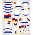 Armenia flag decoration elements vector image vector image