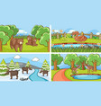 background scenes animals in wild vector image vector image