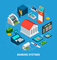 banking systems round composition vector image vector image