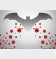 bat are thought to be cause corona virus vector image vector image