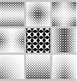 Black and white rhombus pattern set vector image