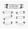 Black outline pencil ribbons vector image vector image