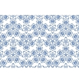 Blue ornament pattern vector image