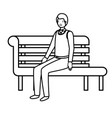 businessman sitting in park chair avatar character vector image vector image