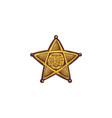 cartoon icon sheriff star shield or badge vector image vector image
