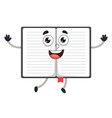 cartoon notebook vector image