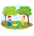 children garden vector image