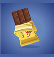 chocolate bar realistic set product package vector image