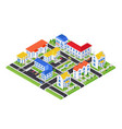 city architecture - modern colorful vector image