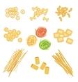 Classic Italian Pasta Types Set vector image vector image
