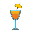 cocktail alcohol drink vector image vector image