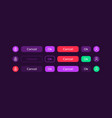 colourful buttons ui elements kit vector image vector image