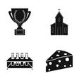 cup church and other web icon in black style vector image vector image