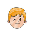 drawing head face smiling child character vector image vector image