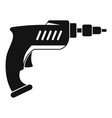 drill icon simple vector image vector image