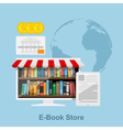 e book store vector image