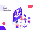 email marketing isometric modern flat design vector image vector image