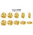empty gold coins set realistic template vector image vector image