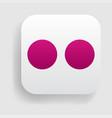 flickr logo icon vector image
