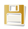 floppy disk sign golden gradient icon vector image vector image