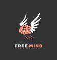 free mind logo vector image