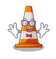 geek traffic cone on made in cartoon vector image vector image