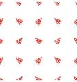 geometric minimalistic orange pizza piece vector image vector image