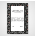 Graphic design template document with abstract vector image vector image