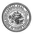 great seal state north dakota vector image vector image