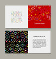 greeting card abstract geometric design vector image vector image