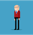 happy businessman in a red shirt vector image