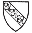hervey bore gules a bend silver with three vector image vector image
