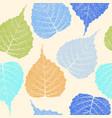 high detail skeleton leaf seamless pattern vector image vector image