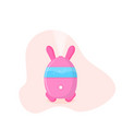 humidifier in shape a rabbit vector image vector image