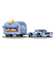 ice cream food truck on road vector image