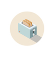 isometric toaster kitchen equipment icon vector image vector image