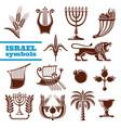 israel culture history judaism religion symbols vector image