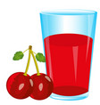 juice and berry cherry vector image vector image