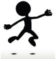 Jumping vector image